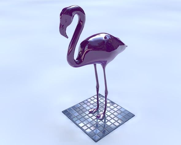 3DOcean Flamingo Statue 8738891