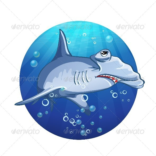 GraphicRiver Hammerhead Shark Cartoon 8738931
