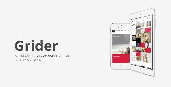 Grider Retina Responsive Blog/Magazine  - Personal Blog / Magazine