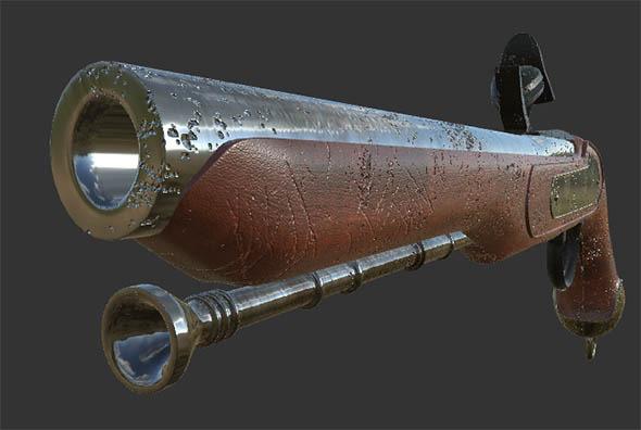 Musket Gun - 3DOcean Item for Sale