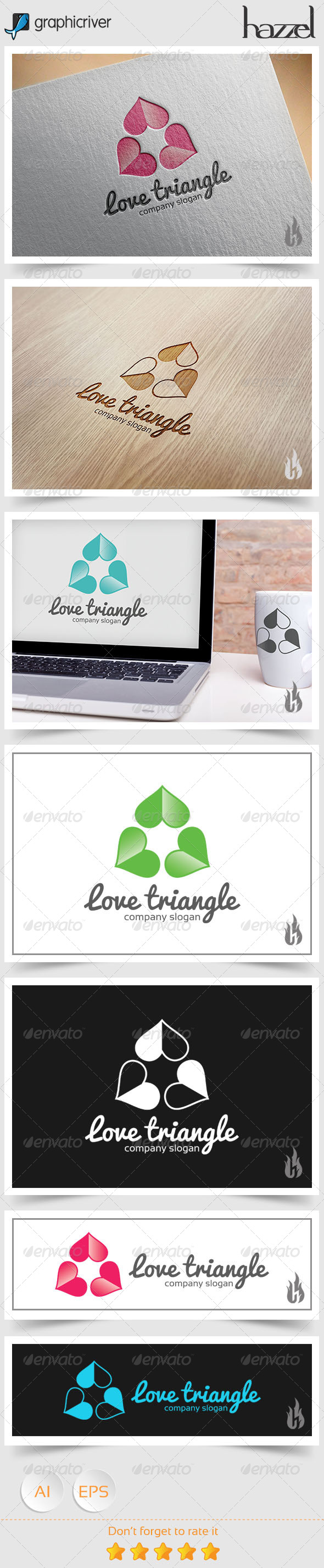 GraphicRiver Love Triangle Logo 8739228