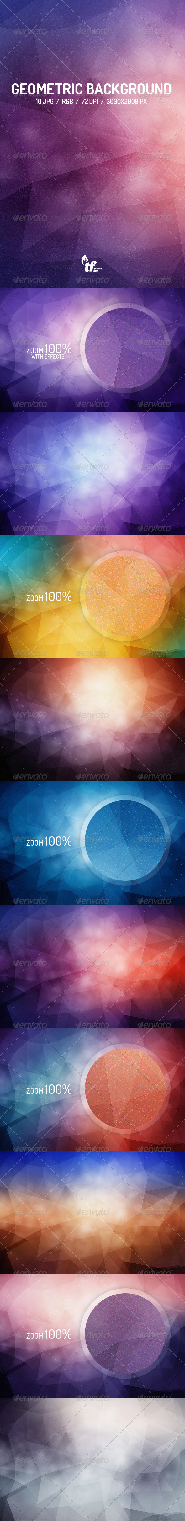 GraphicRiver 10 Abstract Geo Backgrounds 8739241