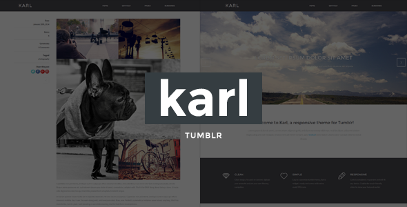 Karl - Minimal Portfolio Theme for Tumblr - Portfolio Tumblr