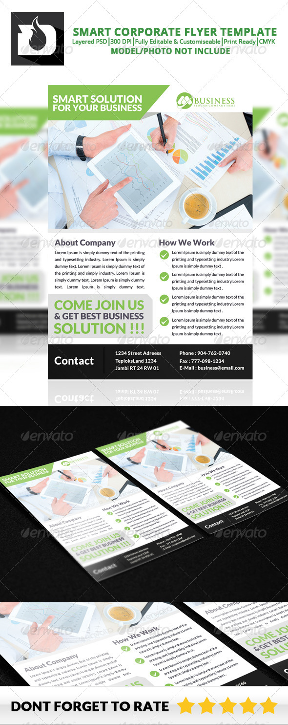 GraphicRiver Smart Corporate Flyer Template V5 8739692