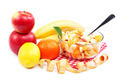 Fresh fruits and salad on a white background. - PhotoDune Item for Sale