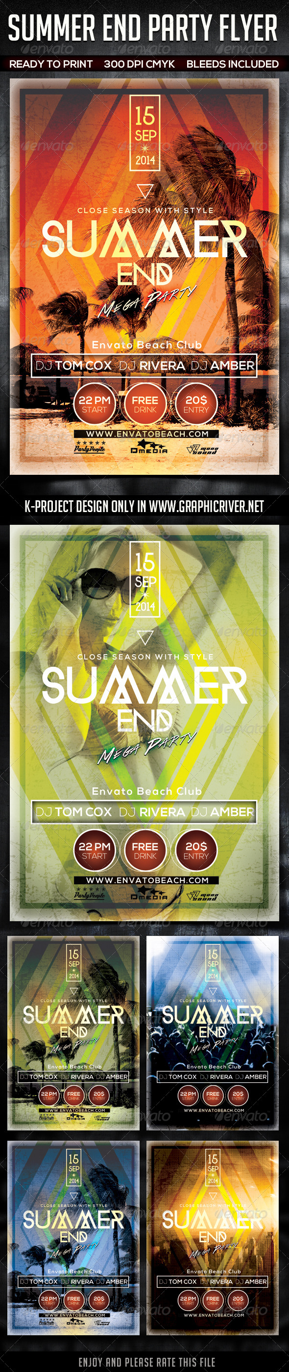 GraphicRiver Summer End Party Flyer 8724708