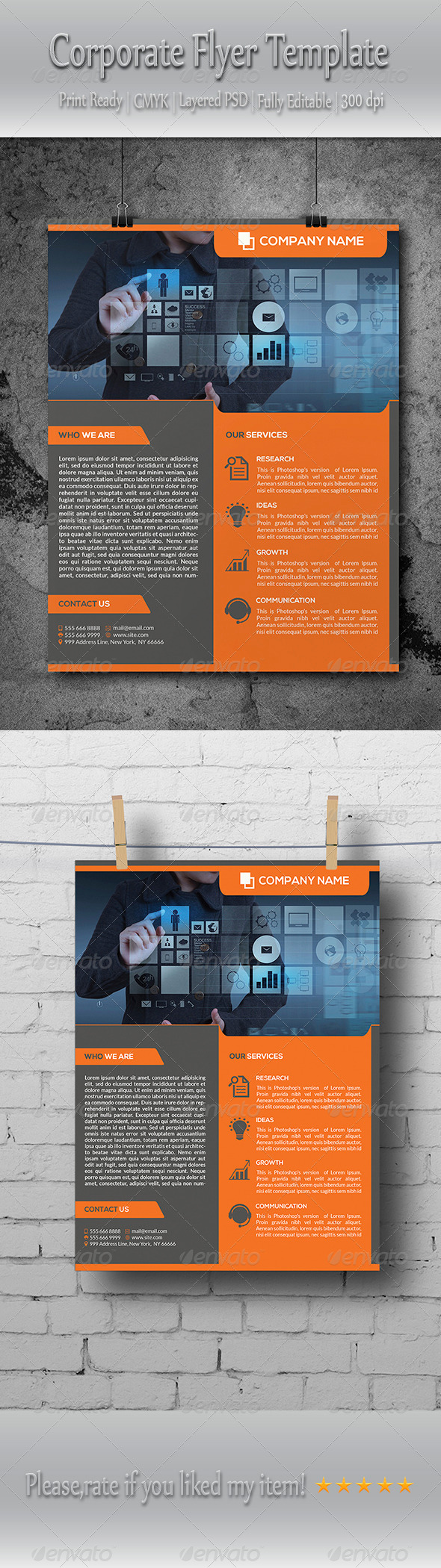 GraphicRiver Multipurpose Corporate Business Flyer Template 8739830
