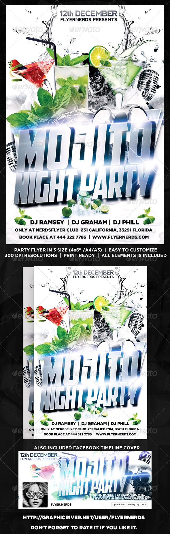 GraphicRiver Mojito Night Party Flyer 8715937