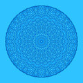 Blue background with abstract round pattern - PhotoDune Item for Sale
