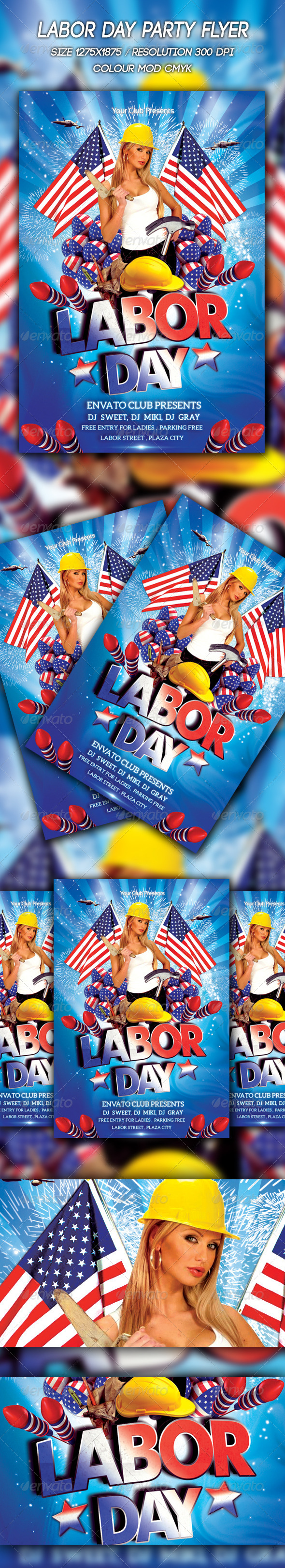 GraphicRiver Labor Day Flyer 8717544