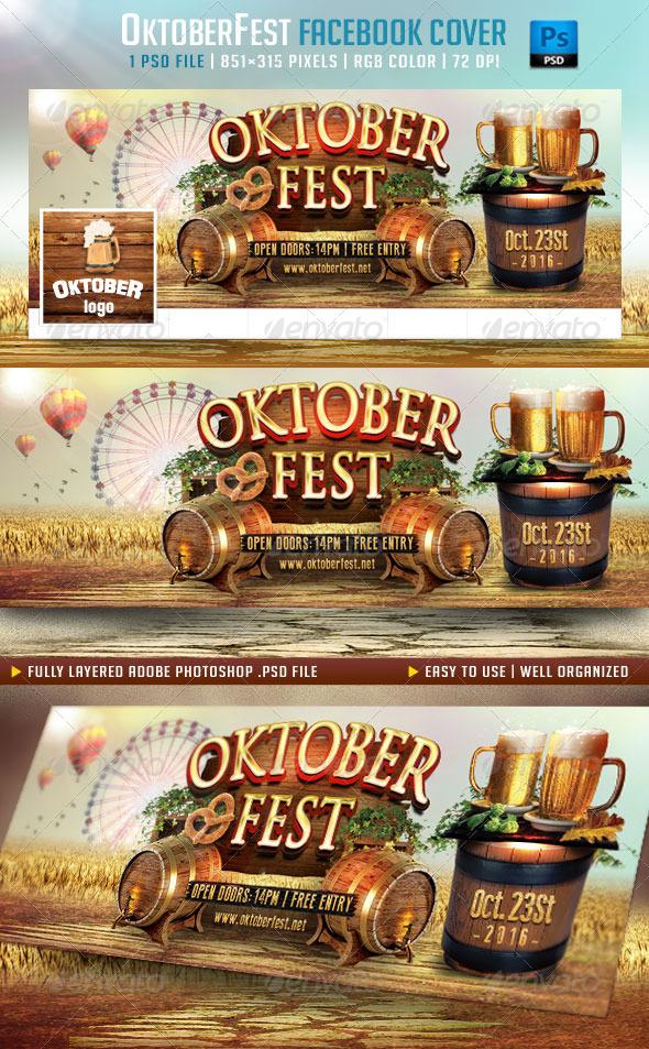 GraphicRiver OktoberFest Facebook Cover 8740055