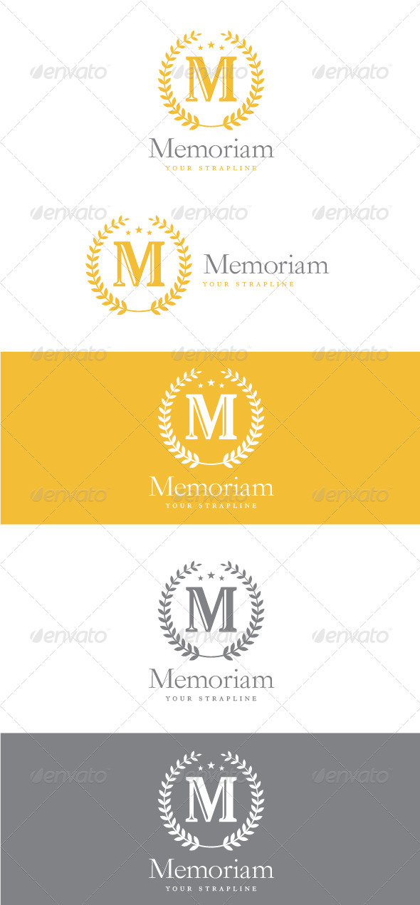 Traditional style letter m crest logo ideal for a hotel hospitality