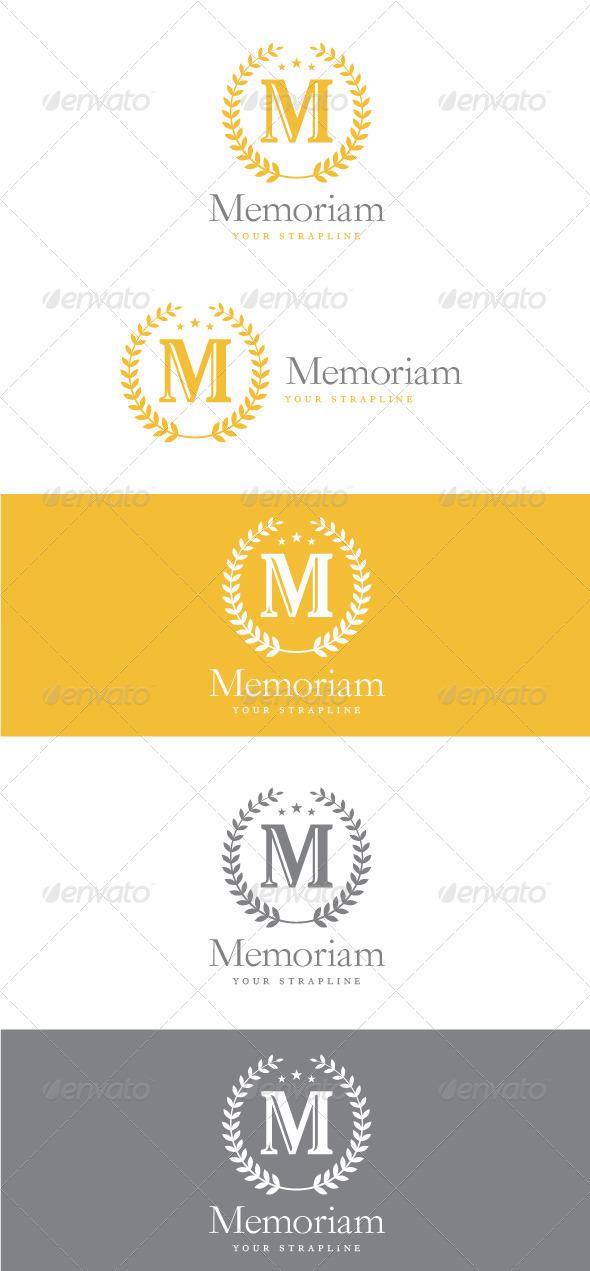 GraphicRiver Memoriam Letter M Logo 8740062