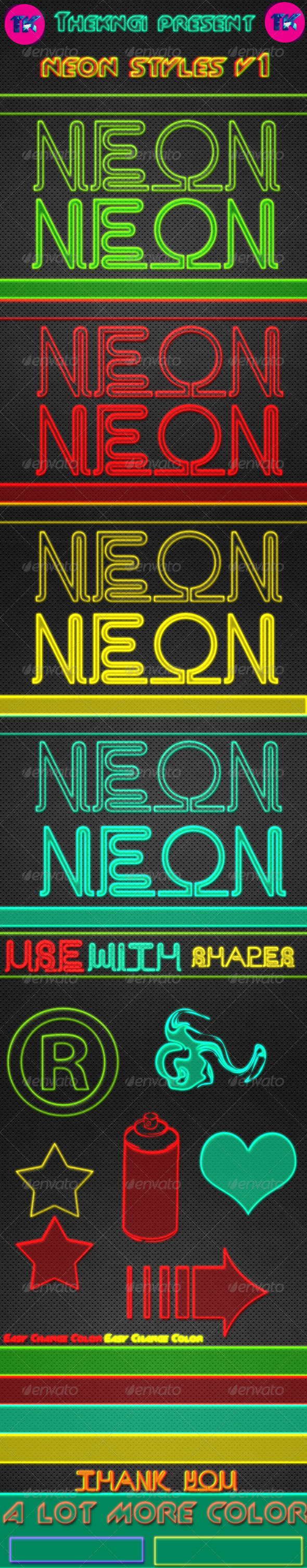 GraphicRiver Neon Text Styles v1 8740081