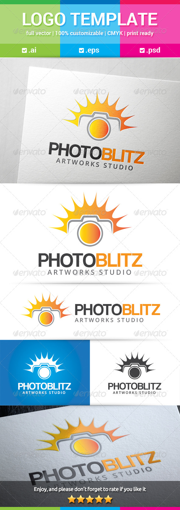 GraphicRiver Photo Blitz Logo 8740103