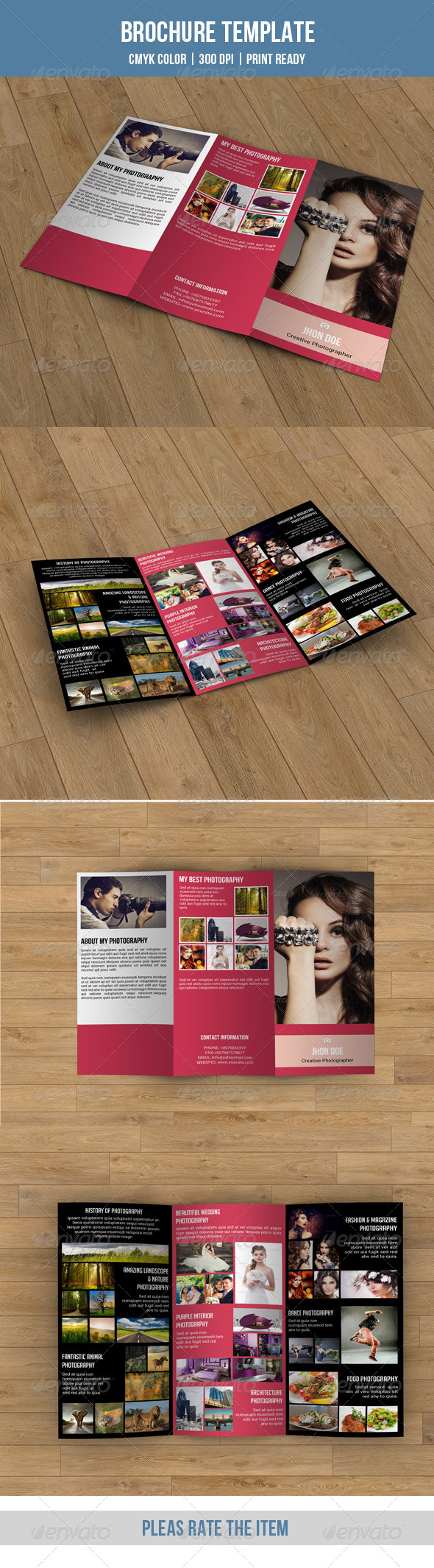 GraphicRiver Tri-fold Photography Brochure-V61 8740106