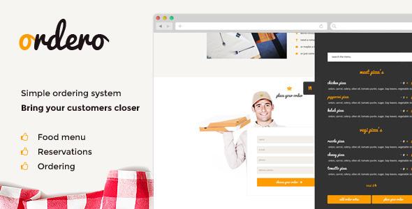 CodeCanyon Ordero Menu Order Reservation Wordpress Plugin 8740165