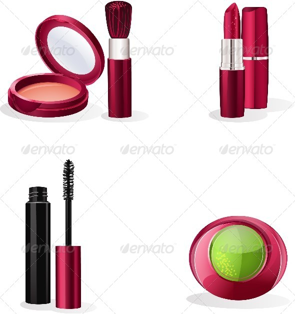 GraphicRiver Set of Cosmetics Makeup 8740255