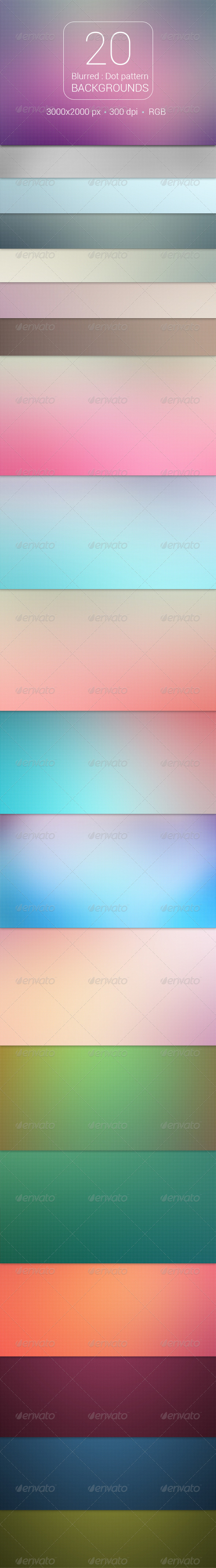 GraphicRiver 20 Blurred Dot Pattern Backgrounds 8740266