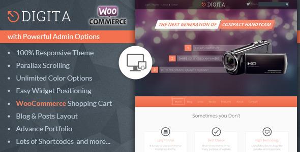 Digita - WooCommerce Parallax Theme
