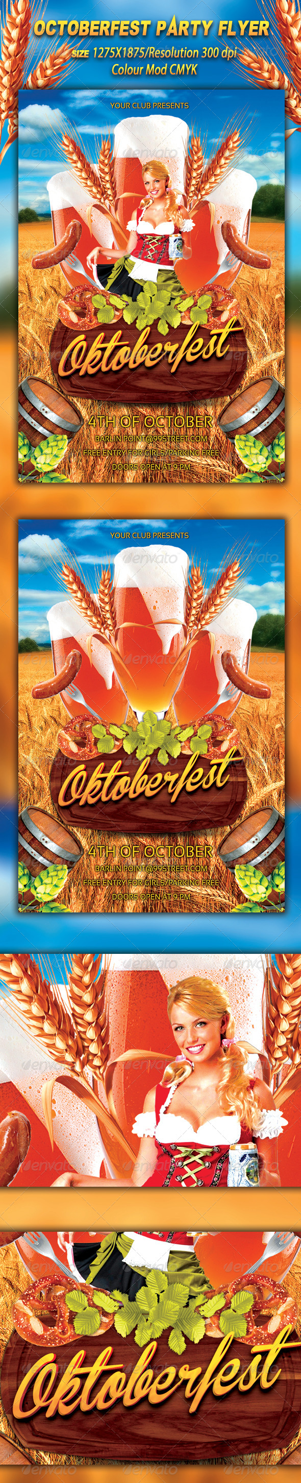 GraphicRiver Octoberfest Flyer 8740393