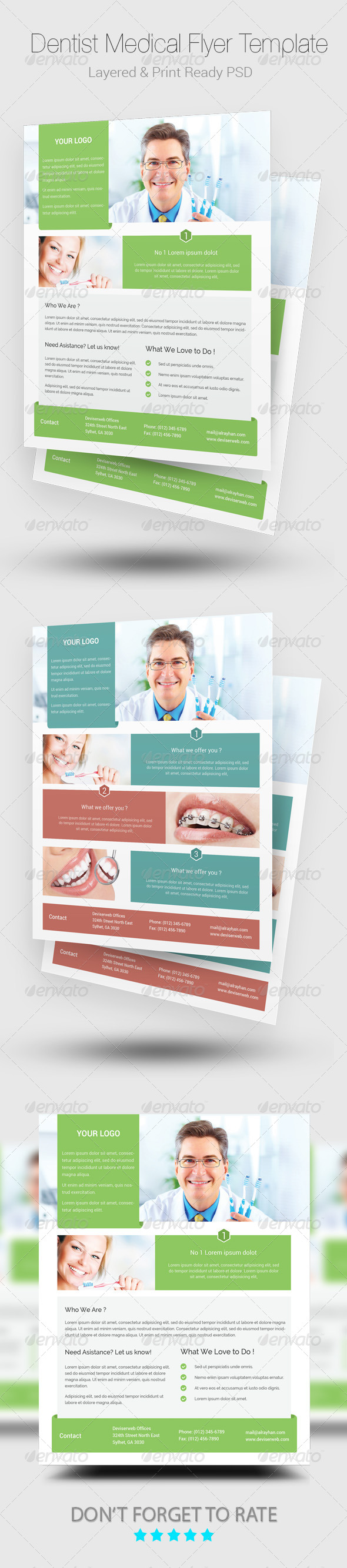 GraphicRiver Medical Dentist Flyer Templates 8740496