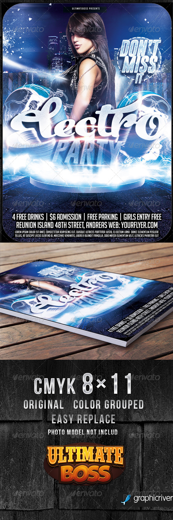GraphicRiver Electro Night Flyer Template 8740564