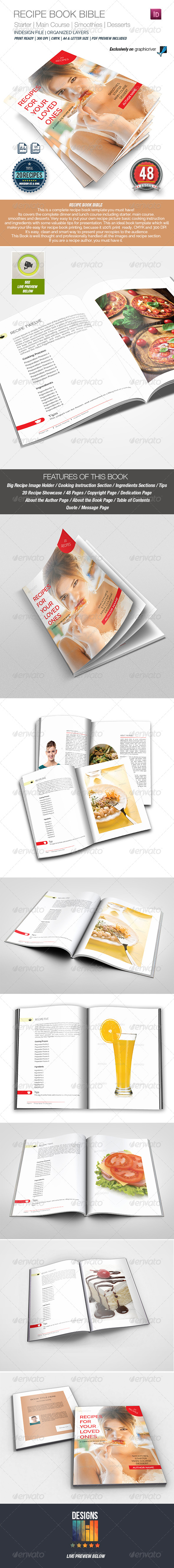 GraphicRiver Recipe Book Bible 8716934