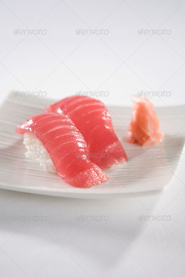 Tuna Sushi plate - Stock Photo - Images