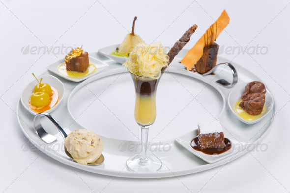 assorted desserts - Stock Photo - Images