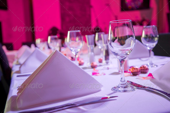 PhotoDune Table dressed up for wedding reception 1258750