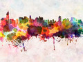 Jakarta skyline in watercolor background - PhotoDune Item for Sale