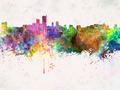 Leeds skyline in watercolor background - PhotoDune Item for Sale