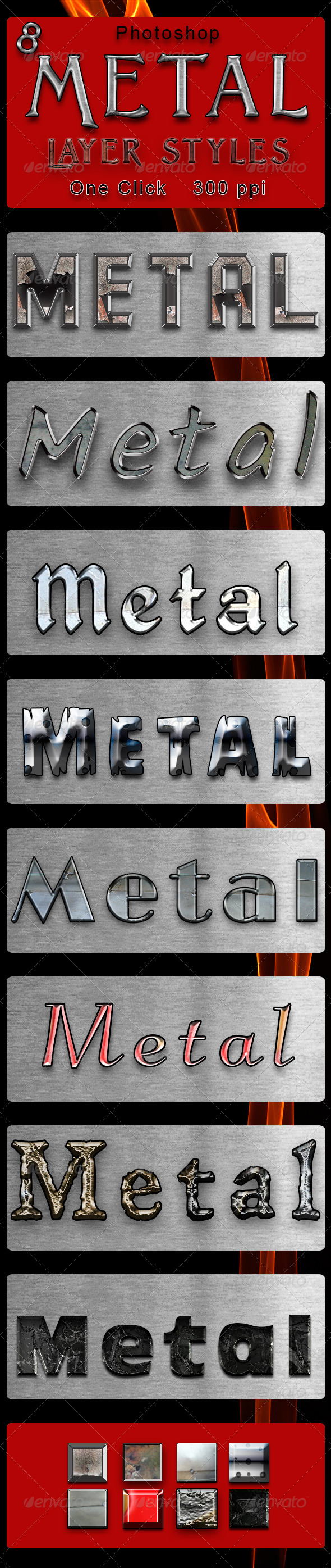 GraphicRiver 8 Metal Layer Styles 8740762