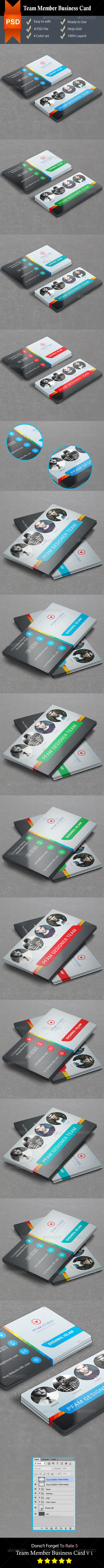 GraphicRiver Team Member Business Card V 1 8740801