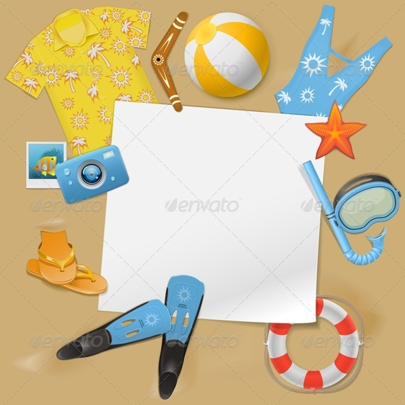 GraphicRiver Vector Beach Concept 8740852