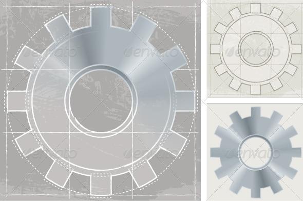 GraphicRiver Gear Sketch 8741059