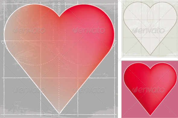 GraphicRiver Heart Sketch 8741103