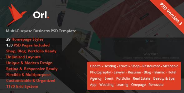 Ori – Multi-purpose Business PSD Template - Business Corporate