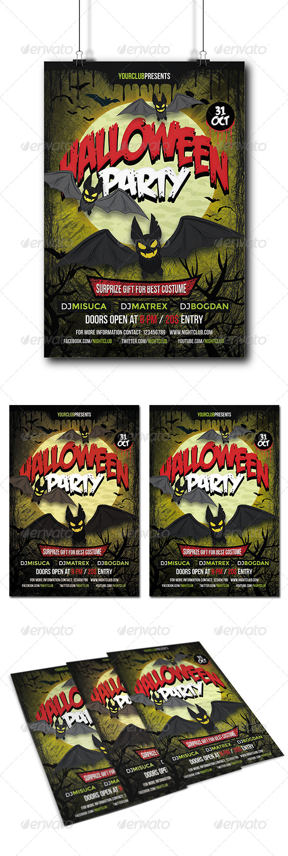 GraphicRiver Halloween Party Flyer 8741195