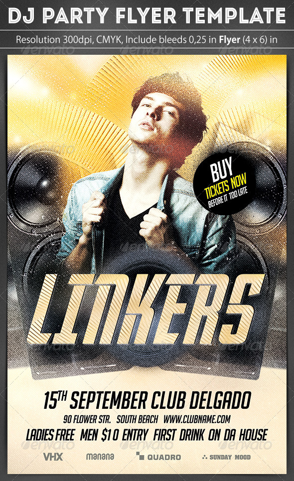 GraphicRiver DJ Party Flyer 8741224