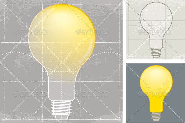GraphicRiver Light Bulb Sketch 8741232