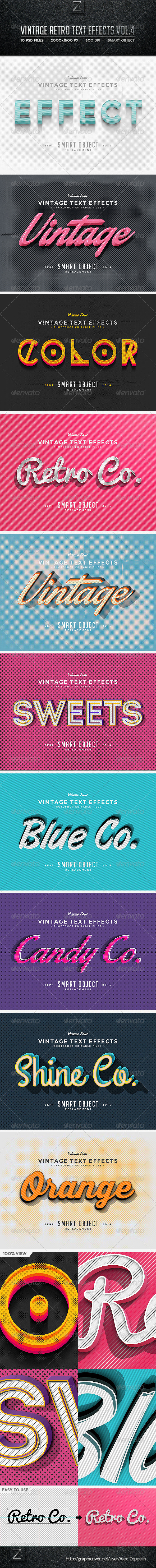 GraphicRiver Vintage Text Effects Vol.4 8741277