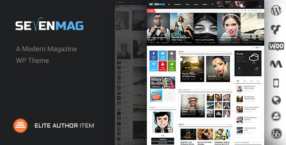 SevenMag Blog Magzine Games News Wordpress Theme