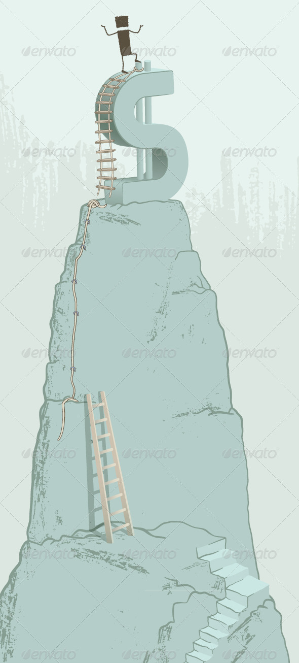 GraphicRiver Climbing the Dollar 8741363