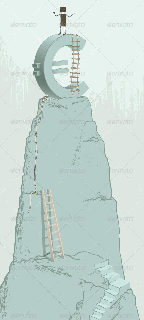 GraphicRiver Climbing the Euro 8741367