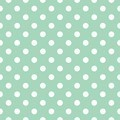 Tile pattern with white polka dots on pastel mint green background - PhotoDune Item for Sale
