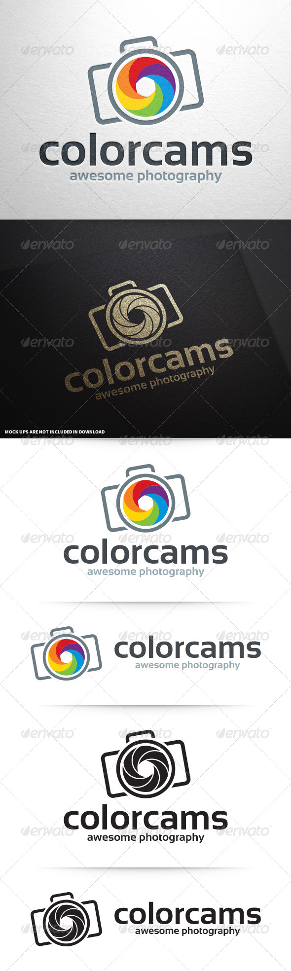 GraphicRiver Color Cams Photography Logo v2 8741412