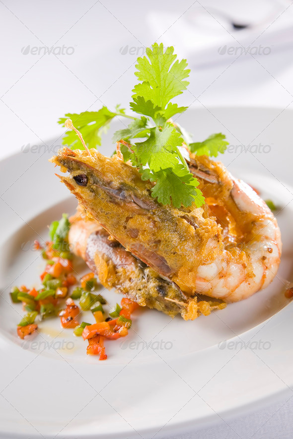 Deep Fried Prawn - Stock Photo - Images