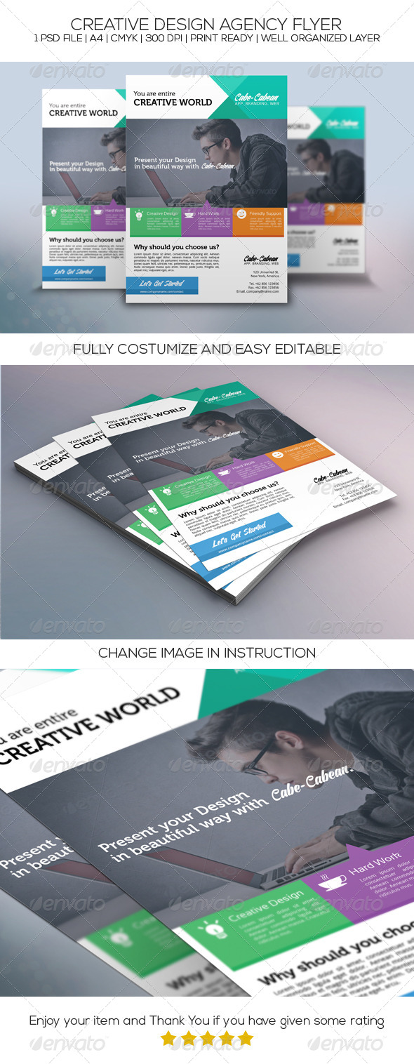 GraphicRiver Creative Design Agency Flyer 8715884